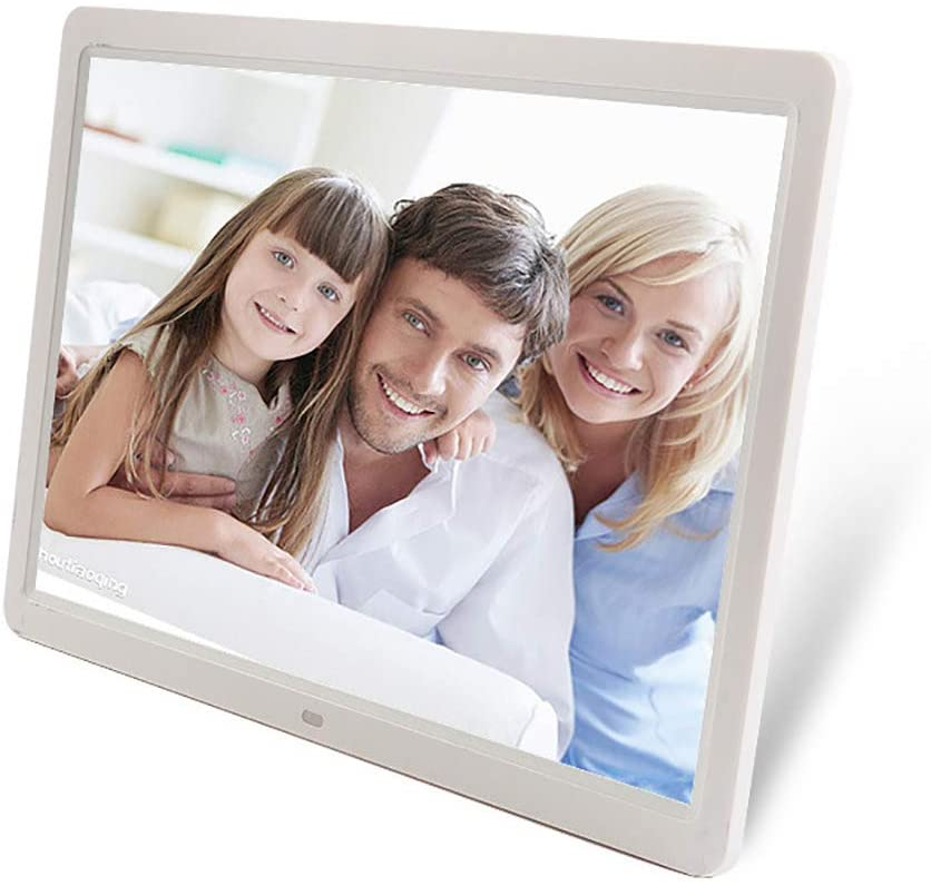 15 inch HD Touch Screen Digital Photo Frame MP3 MP4 Movie Player Alarm Photo Frames Photo Digital Photos Frames,White