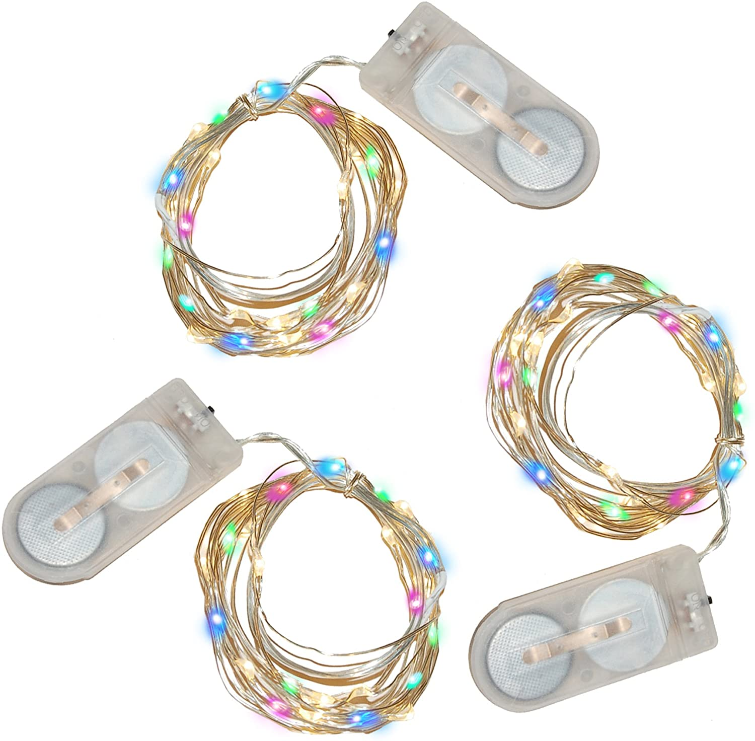 Lumabase 60603 3 Count Battery Operated Submersible Mini String Lights (60 Lights), Multicolor
