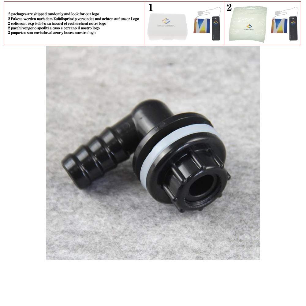 14mm OD Hose Barb 90 Degree Elbow PVC Aquarium Fish Water Tank Drainage Connector Drain Joint Water Pipe Fitting