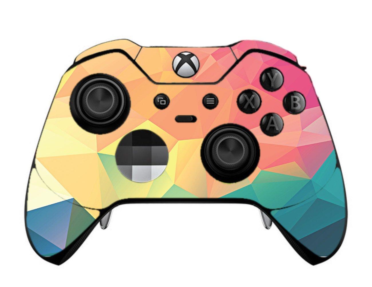 Pastel Rainbow Polygon Design Vinyl Decal Sticker Skin by egeek amz for Xbox One Elite Controller
