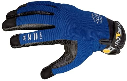 Decade 49925 Ergonomic FIT System Full-Finger Driver Style Work Gloves, Royal Blue, XX-Large