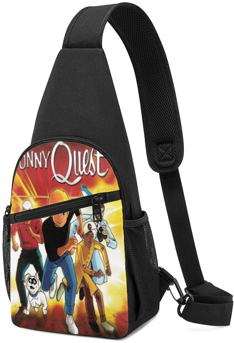 GuanRkon Jonny Quest Fashion Chest pack casual bag new polyester chest bags Black One Size