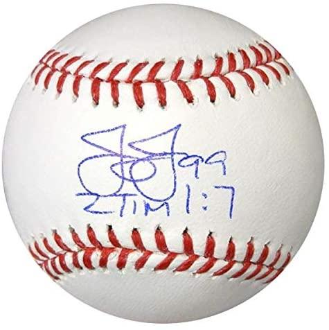 James Jones Autographed Official MLB Baseball Texas Rangers MCS Holo Stock #78922 - NFL Autographed Miscellaneous Items
