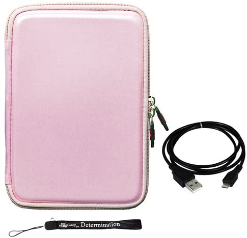 Pink Carbon Fiber Durable and Includes a Micro USB Data Sync Cable for Your Tablet