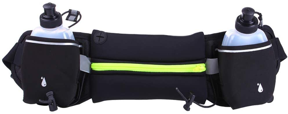 US-DXB Upgraded Version of Running Waist Bag with Water Bottle, can accommodate Most Sizes of Mobile Phones, no Bounce, Suitable for Running, Hiking and Mountaineering Waist Bag