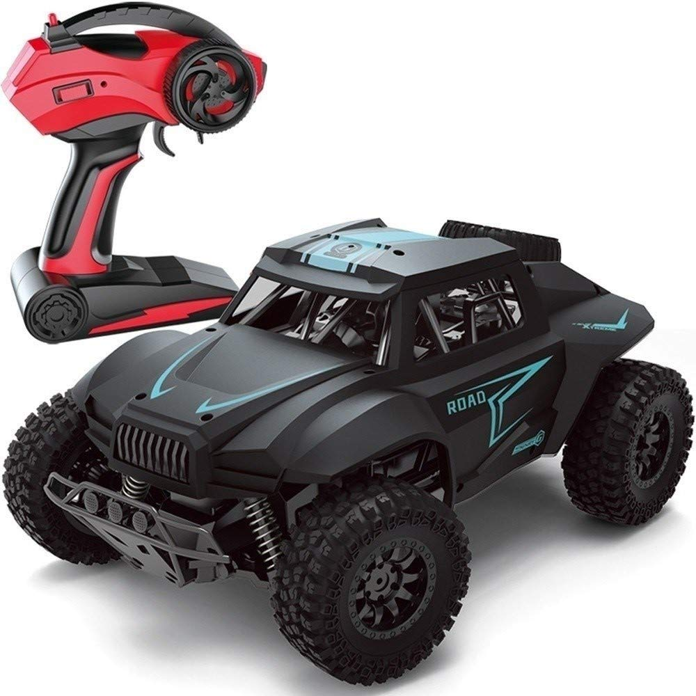 PCARM Giant 1:12 Scale High Speed Alloy 4WD 2.4Ghz Radio Remote Control Truck Off-road Racing Climbing Car Electric Rock Crawler Monster Chariot R/C RTR Hobby Cross-country Car Best Gift For Boy Black