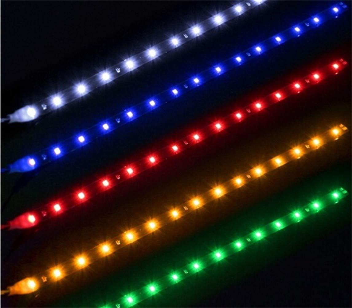 JELO Premium Led Strip Lights, Led Strip Lights with Remote 30cm Headlights Led Strip Lights for Bedroom Professional & Upgraded (Color : Red)
