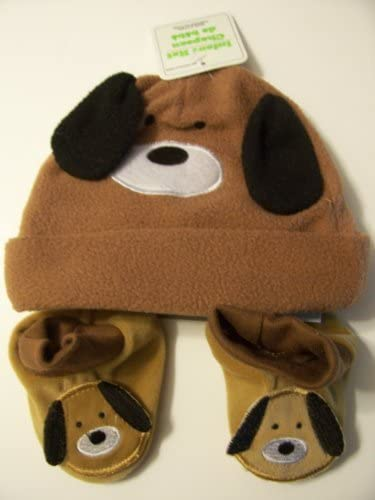 Infant Animal Hat and Booties Set ~ Puppy (One Size Fits All)