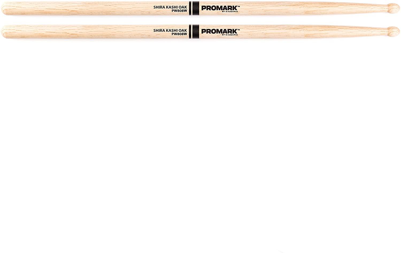 Promark PW808W Shira Kashi Oak 808 Wood Tip drumsticks