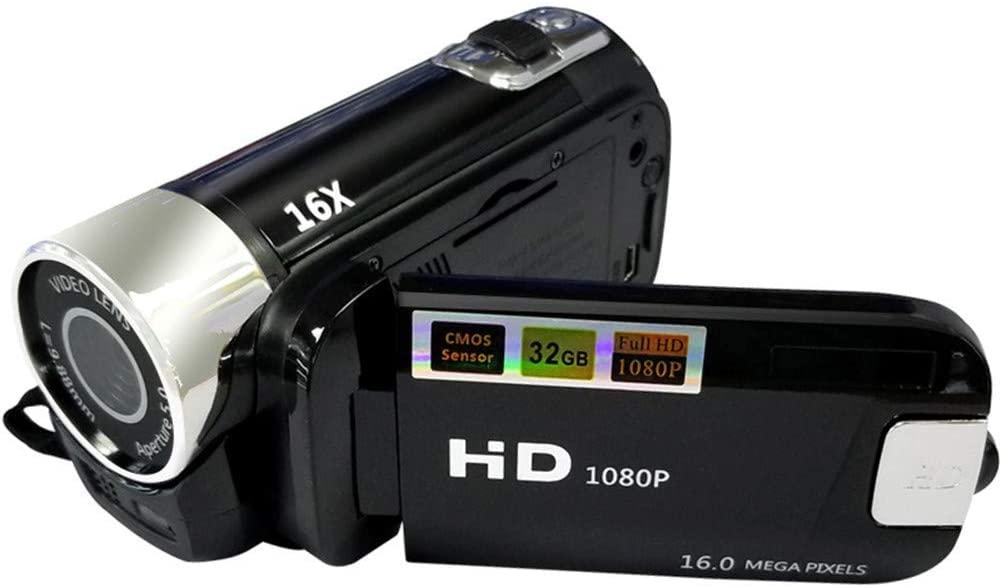 LYHLYH Digital Video Camera 1080P Mini Camera 2.7LCD Flip Screen 270 Degree Rotatable Camcorder for Children Beginners Elderly Professional Travel Photography,a