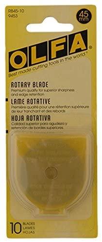 OLFA 45mm Rotary Blades, 10-pack