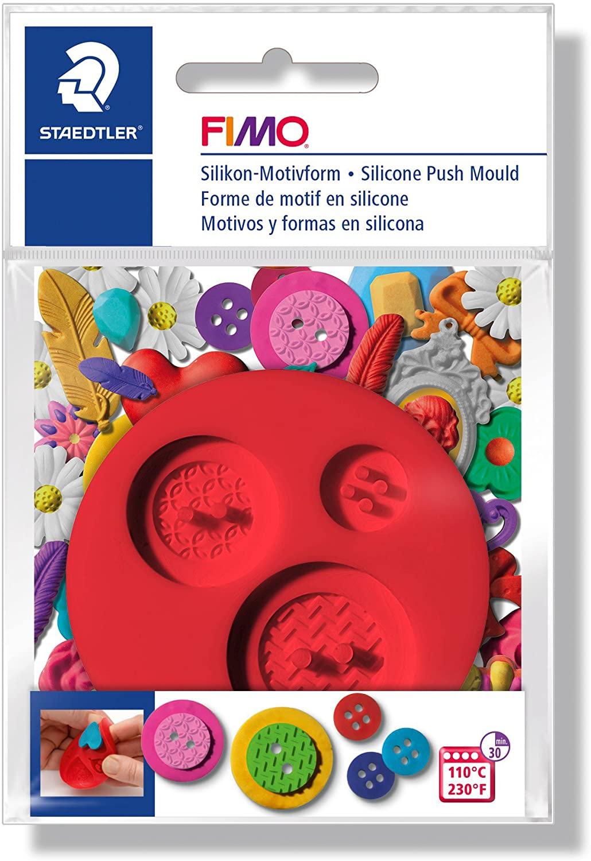 STAEDTLER 872527 Gems Fimo Push Mould Modeling Craft Kit