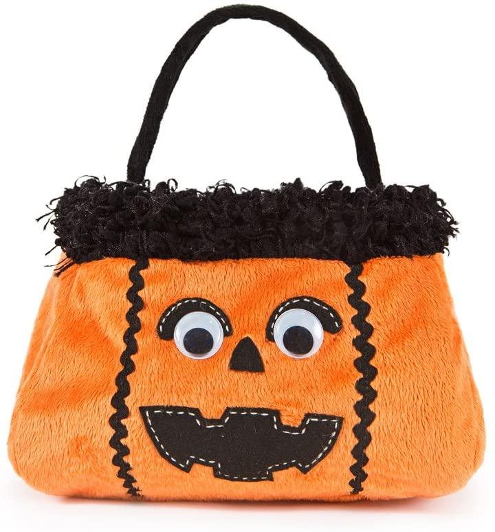 Xia Home Fashions Jack-O-Lantern Halloween Treat Bag, 7 by 7 by 13