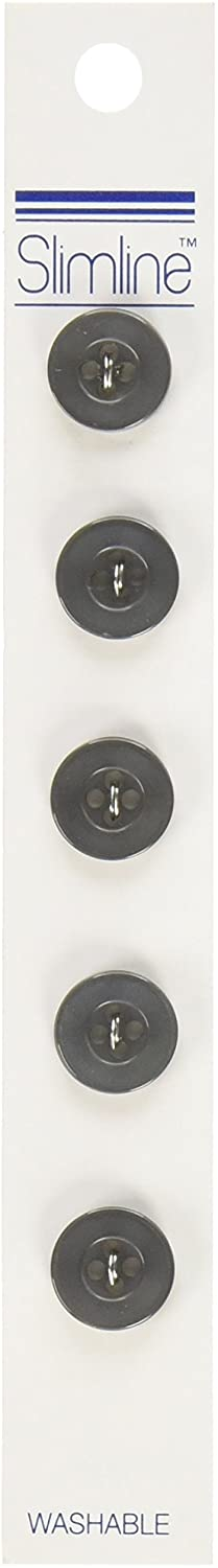 Blumenthal Lansing Slimline Buttons Series 1-Charcoal 4-Hole 1/2