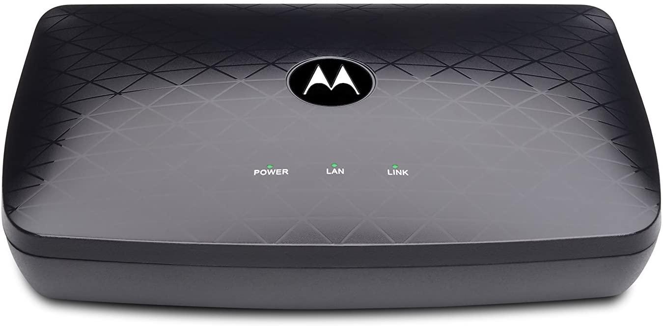 MOTOROLA MOCA Adapter for Ethernet Over Coax, 1,000 Mbps Bonded 2.0 MoCA (Model MM1000)