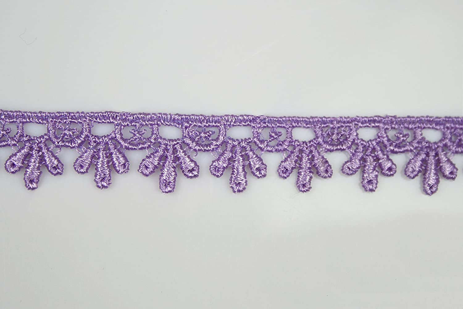 "Lilac Lavender Purple 5/8""~5-1/8"" Embroidered Venice Lace Trim Guipure By Yard (UB161 (5/8))"