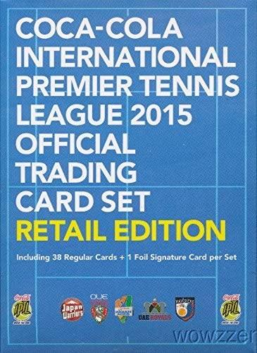 Coca-Cola International Premier Tennis League 2015 Epoch Official Trading Card Retail Set with 38 Cards & Facsmile Signature Card! Set includes Roger Federer, Serena Williams, Novak Djokovic & More!