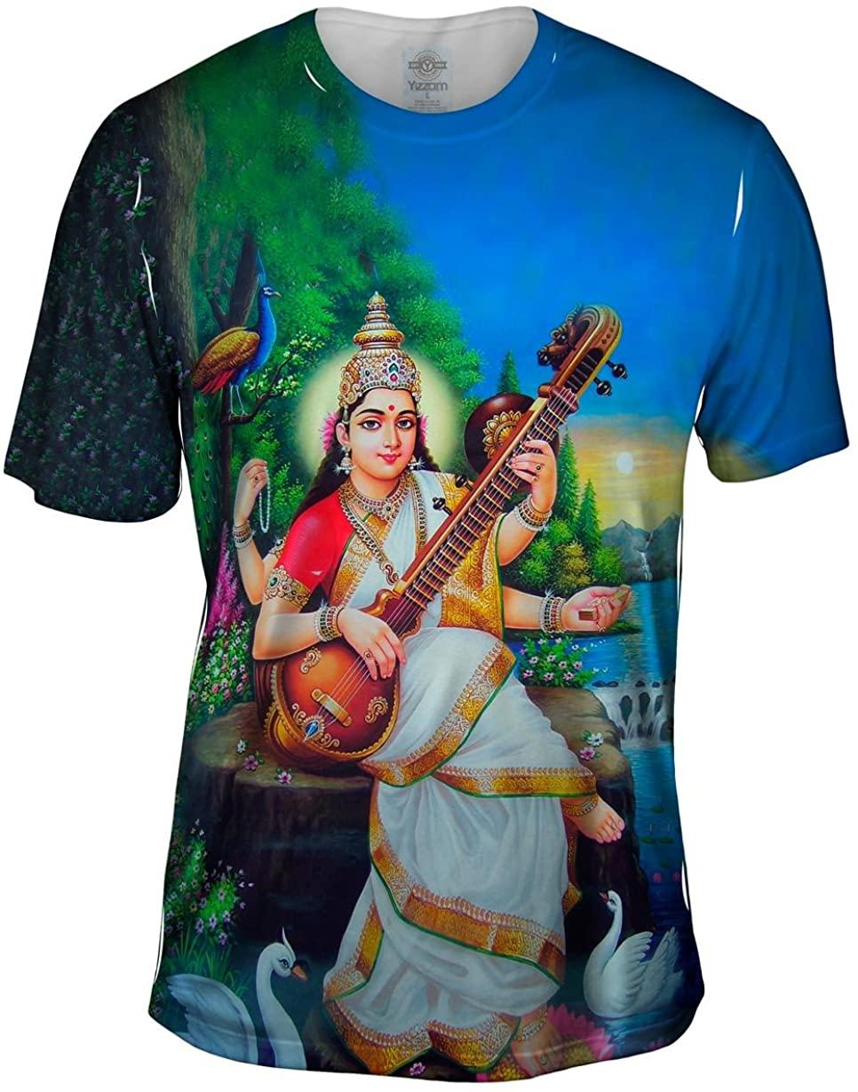 Yizzam- India - Goddess Saraswati -Tshirt- Mens Shirt