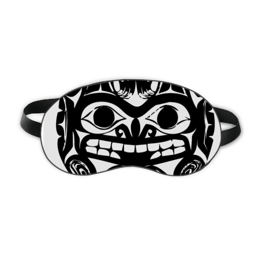 Fear Indian Human Skeleton Totem Sleep Eye Shield Soft Night Blindfold Shade Cover