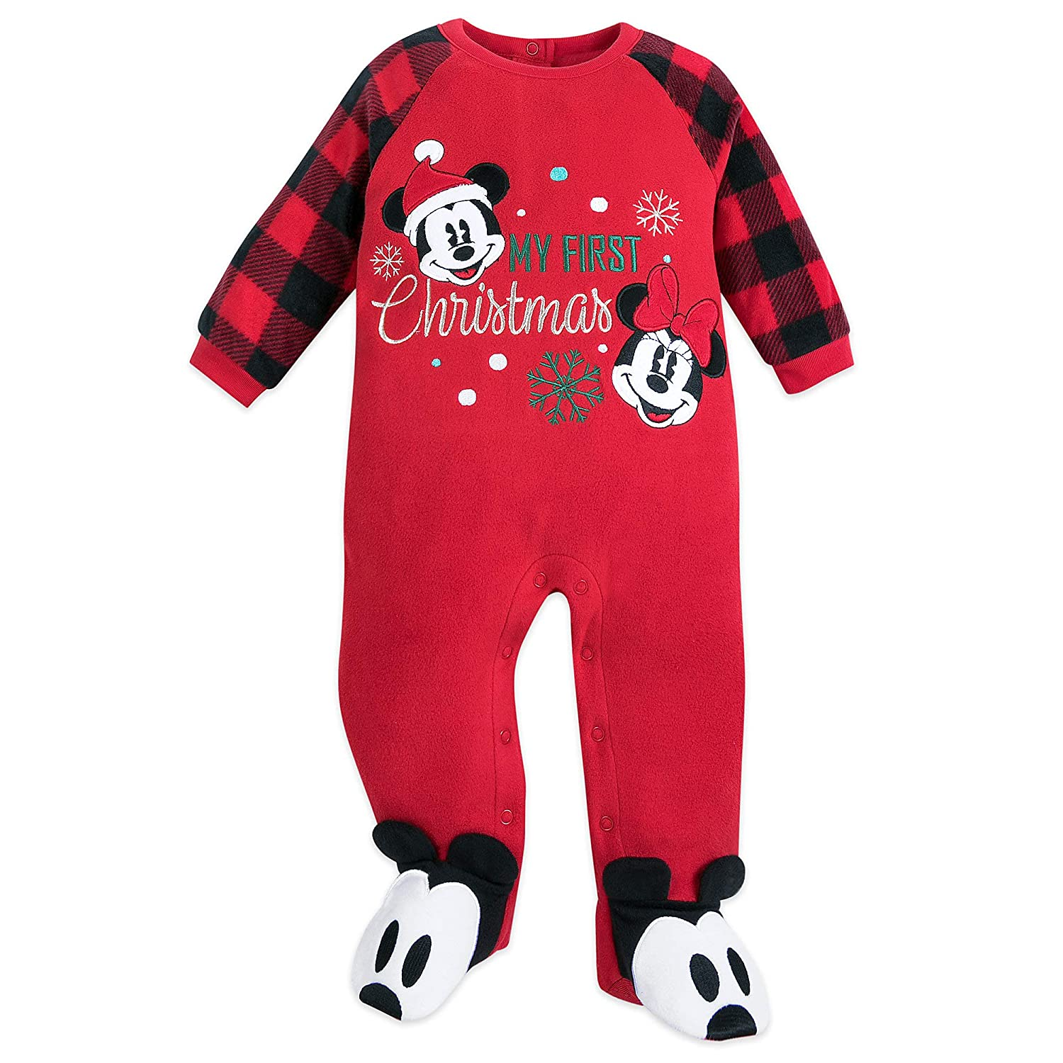 Disney Mickey and Minnie Mouse Holiday Blanket Sleeper for Baby Size 3-6 MO Multi
