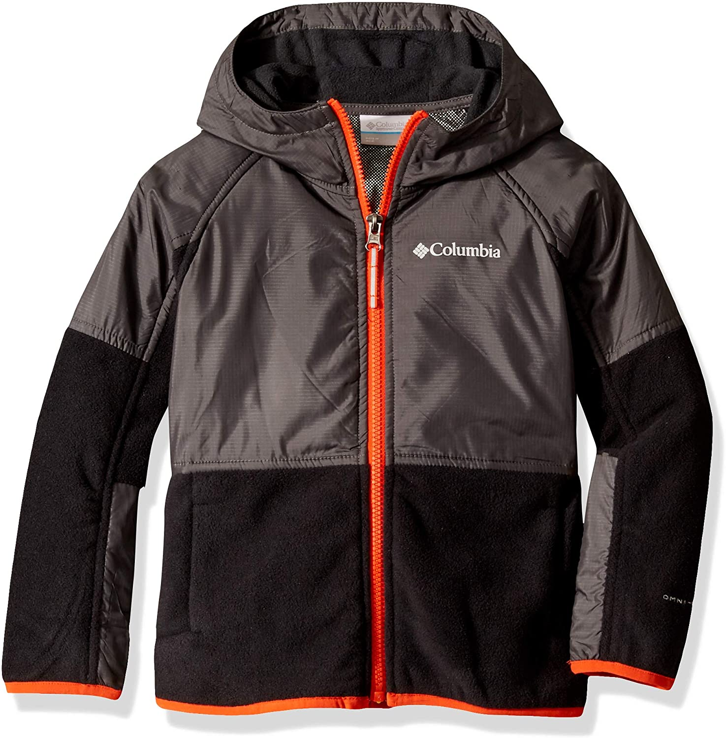 Columbia Youth Basin Butte Fleece Full Zip, Breathable, Classic Fit