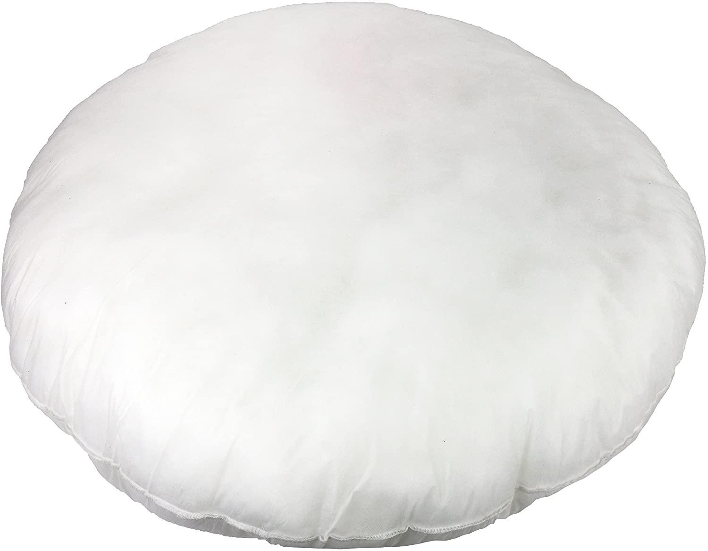 Foamily Premium Hypoallergenic Round Stuffer Pillow Floor Insert Sham Form Polyester, 32