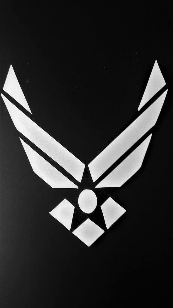 USAF Air Force Military Airman Vinyl Decal Sticker|White|Cars Trucks Vans SUV Laptops Tool Box Wall Art|5.5 X 5|CGS445