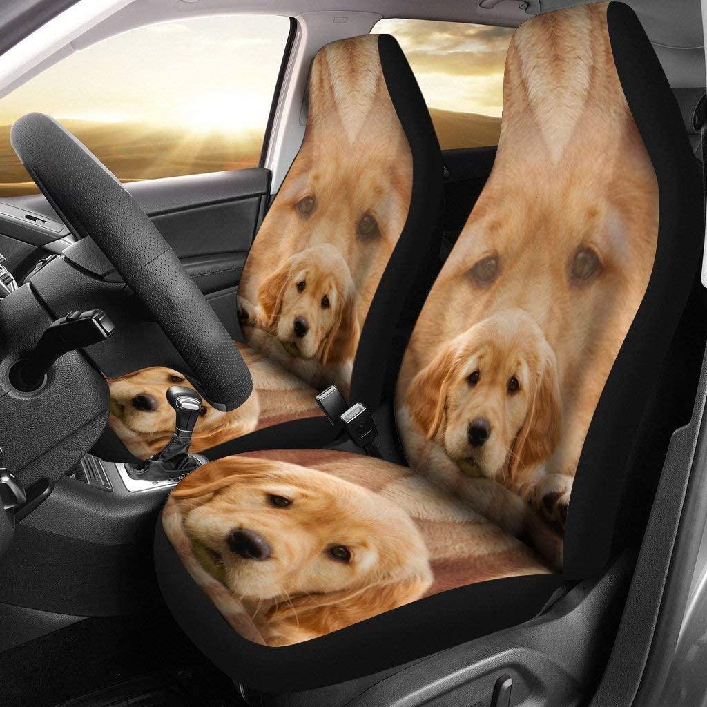 Breedink The Cutest Golden Retriever Print Car Seat Covers
