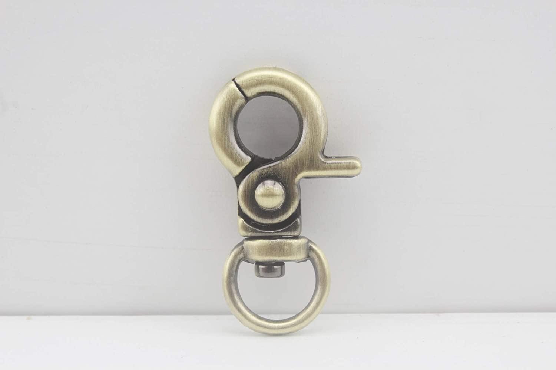 Anti Bronze, 3/8 inch / 10mm Zinc Alloy Lobster Claw snap Hook for Strap Handbag Purse Bag Key Ring DIY Craft, 12 Pieces per lot, AT83