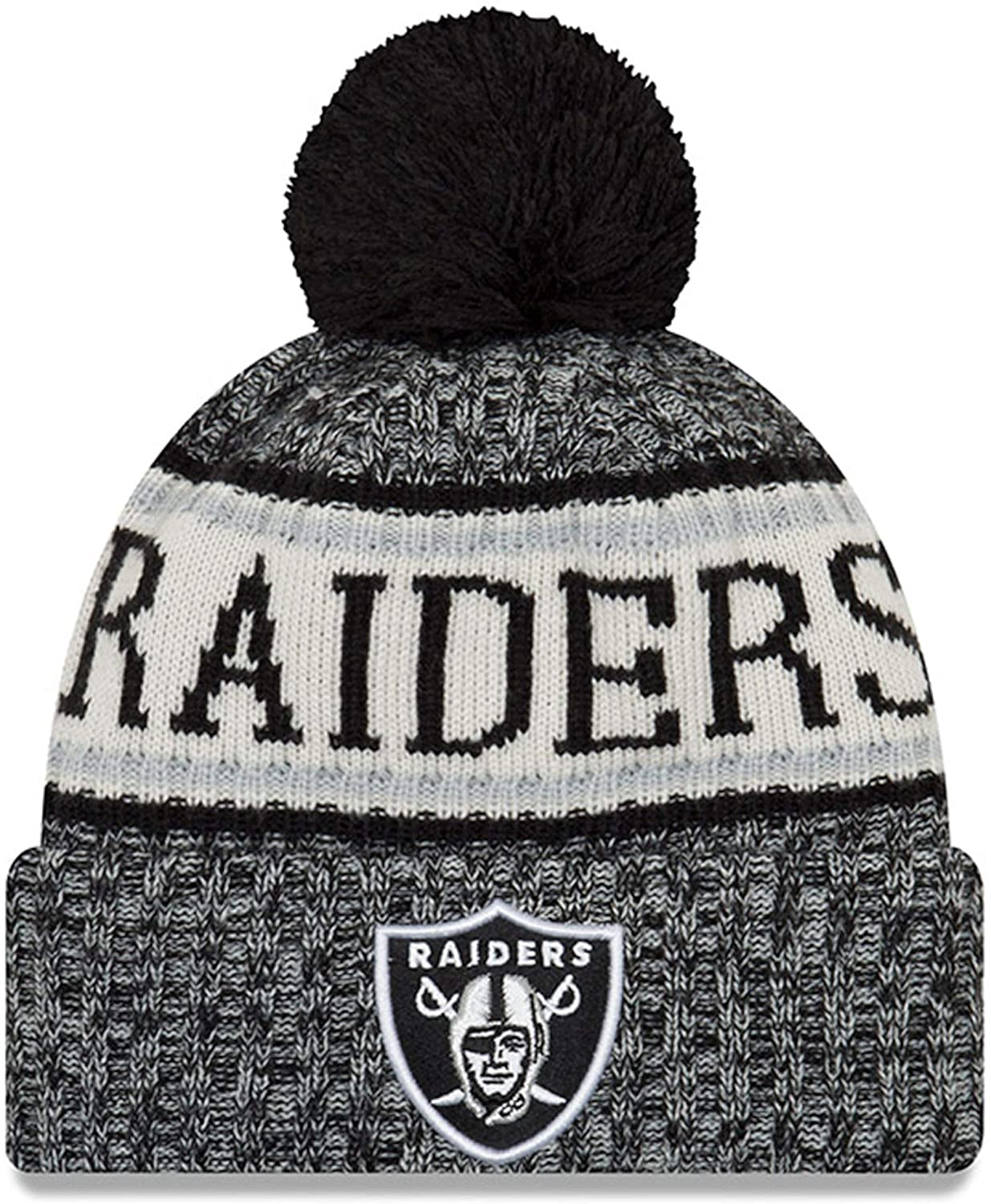 New Era Youth Raiders Sport Knit NFL Beanie Black, Jr./ Youth