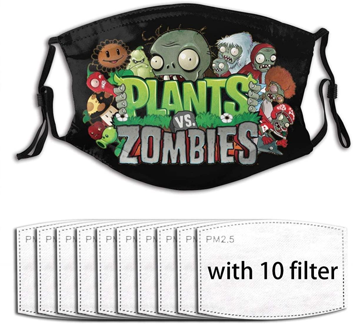 Plants-Vs. Zombies Pattern Fashion Dust Mask Reusable