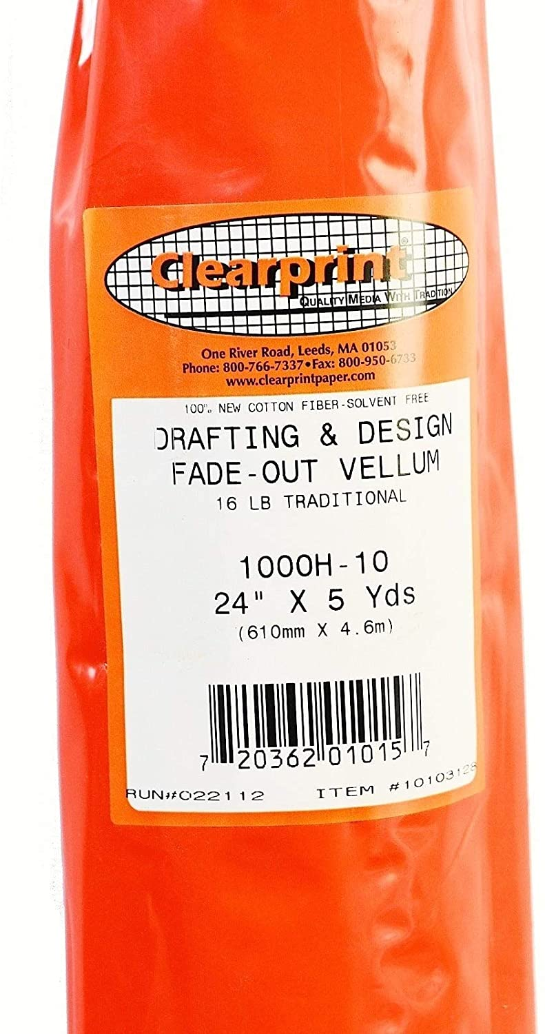 CLEARPRINT Archival Quality Vellum Manual Drafting Paper, 24