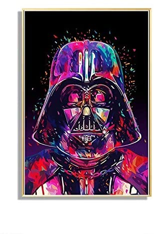 Star Wars Full Drill Diamond Painting by Number Kits, 5D DIY Diamond Embroidery Crystal Rhinestone Cross Stitch Handmade Mosaic Paintings Arts Craft for Home Wall Decor (30X40CM)