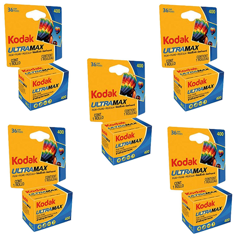 Ritz Camera Kodak 603 4078 Ultramax 400 Color Negative Film (ISO 400) 35mm 36 Exposures Carded 5 Pack
