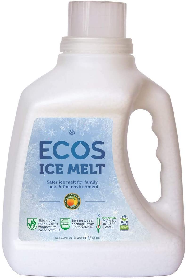 Earth Friendly Products ECOS Ice Melt Magnesium Chloride Pellets Pet, Plant and Concrete Safe, 6.5 lbs. Jug (Pack of 4)
