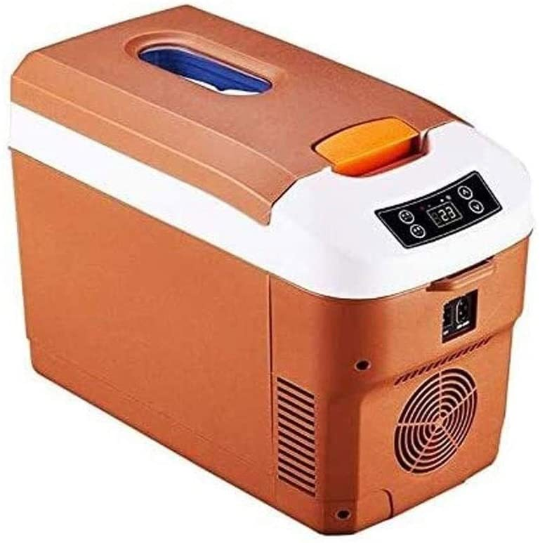 Mini Refrigerator Car Refrigerator, Mini Small Refrigerator, Car Refrigerator for Car and Home, Portable Car Cool and Warm Electric Cool Box, Drinks Food Beer Storage for Office, Dorm or Apartment wit