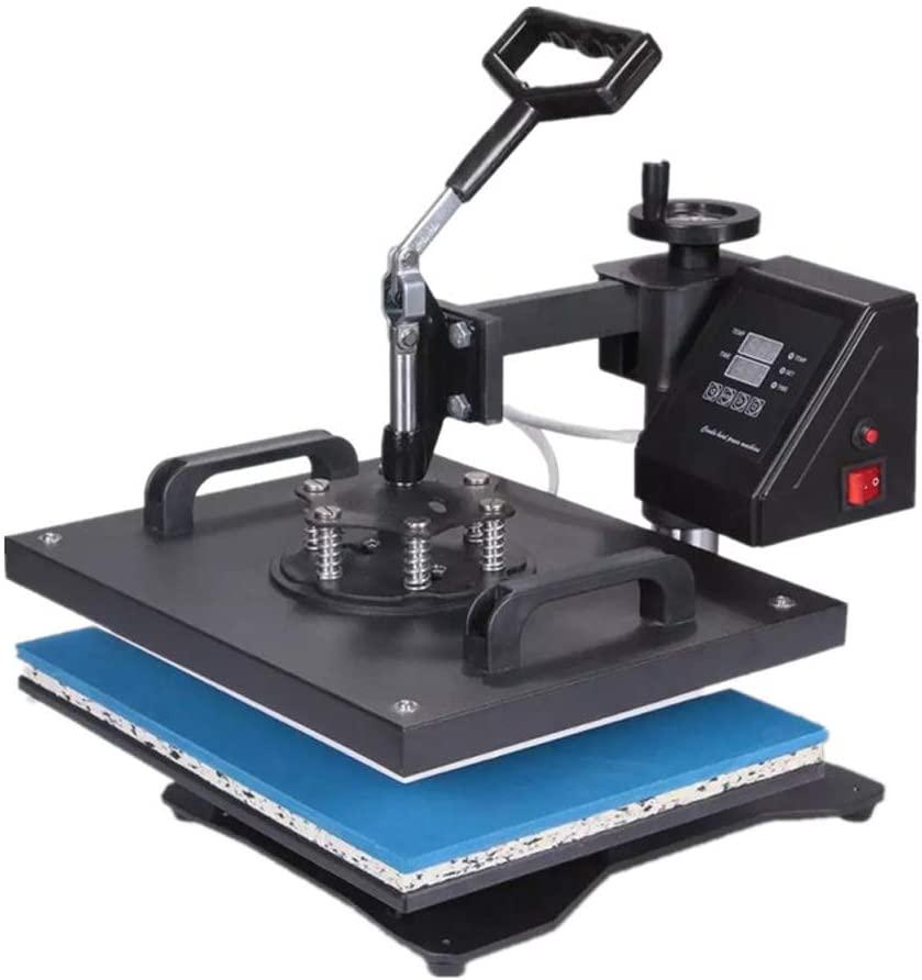 QWERTOUY Double Display 5 in 1 Combo Heat Press Machine Sublimation Heat Press Heat Transfer Machine for Mug Cap T Shirt Phone