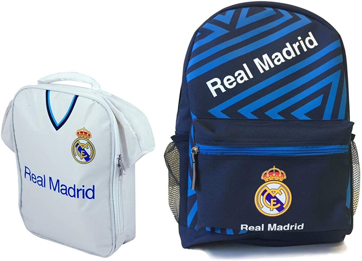 Real Madrid - Backpack & Lunch Bag Combo Pack (2 Pieces)