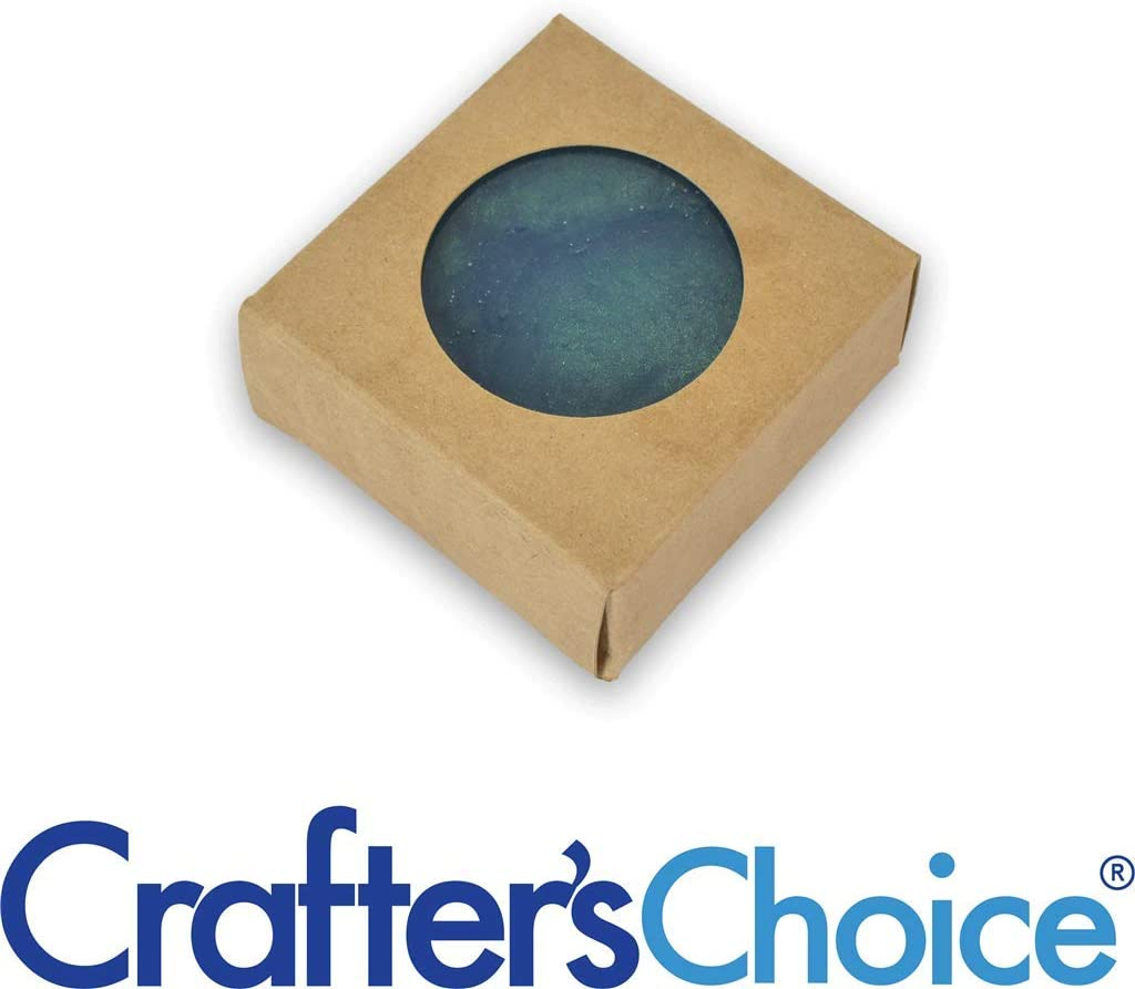 Crafter's Choice Kraft Square with Round Window Soap Box - Homemade Soap Packaging - Soap Making Supplies - 100% Recycled Materials - Made in USA! - 50 Pack