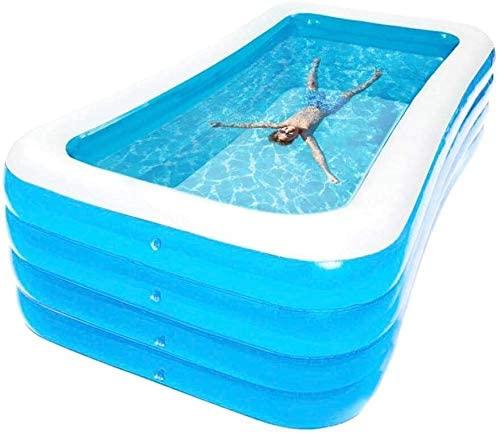 BYM 4Layer 3.05 Meter Inflatable Paddling Family Kids Swimming Pool Elektrik Pump (210X150X75cm+Pump)