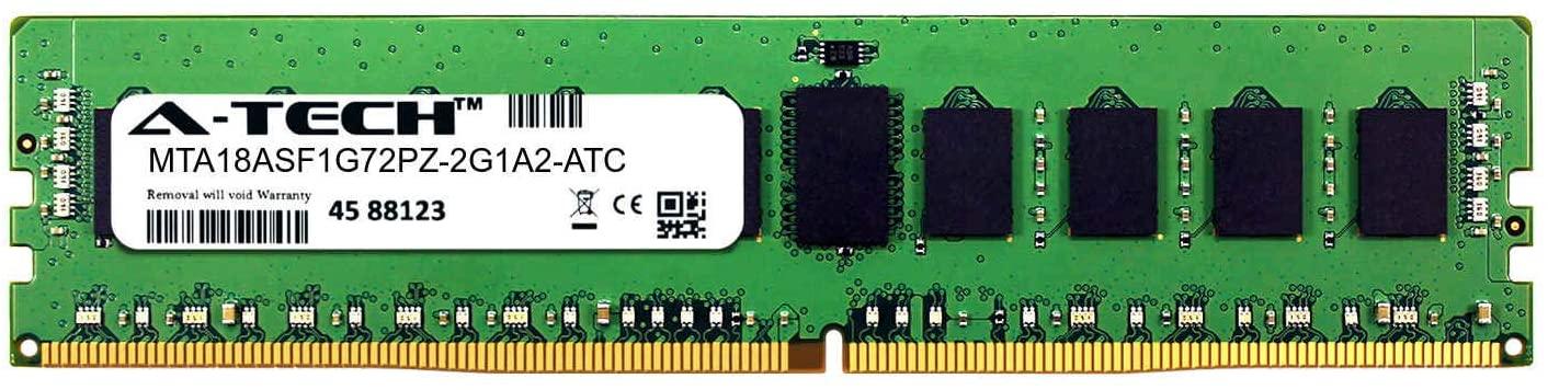 A-Tech 8GB Replacement for Micron MTA18ASF1G72PZ-2G1A2 - DDR4 2133MHz PC4-17000 ECC Registered RDIMM 1rx4 1.2v - Single Server Memory Ram Stick (MTA18ASF1G72PZ-2G1A2-ATC)