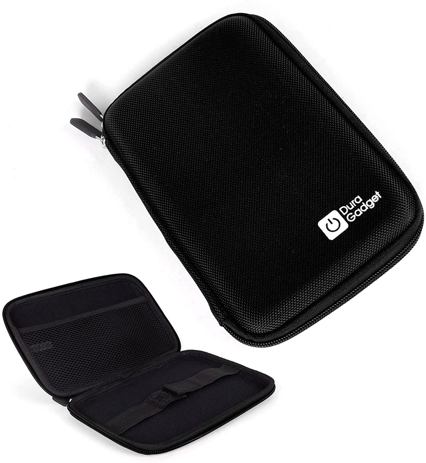 DURAGADGET Black EVA Protective Hard Zip Case - Compatible with Sony Reader Touch Pocket | PRS T1 & PRS-T2