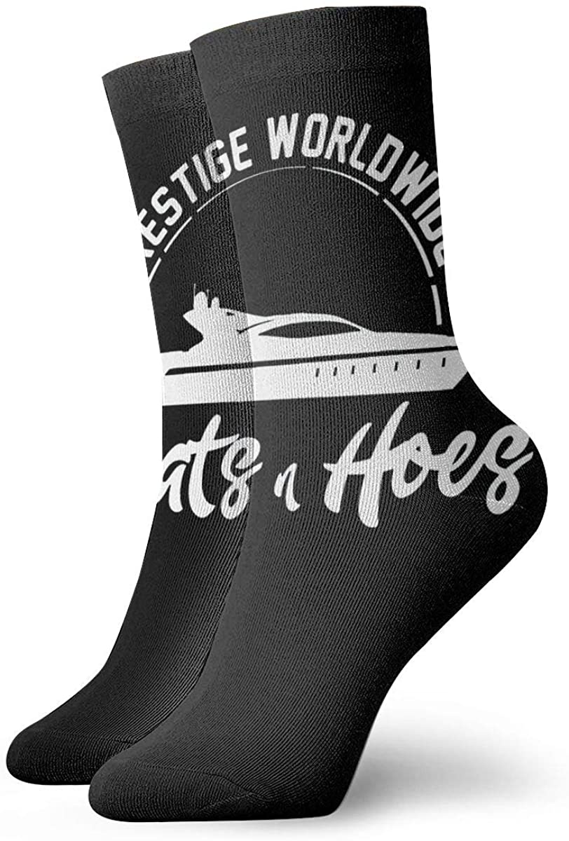 Prestige Worldwide Boats And Hoes. Womens Casual Athletic Stockings Short Crew Socks