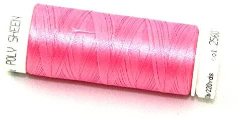 Mettler Polysheen Polyester Machine Embroidery Thread 200m 200m 2560 Azalea - each