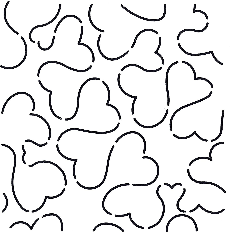 Quilting Creations Heart Stipple Quilt Stencil