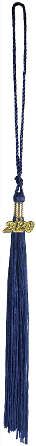 """CHGD Graduation Tassel 9"""" with A 2020 Year Charm Date Single Color (Coming with an Extra 2021 Year Charm)"""
