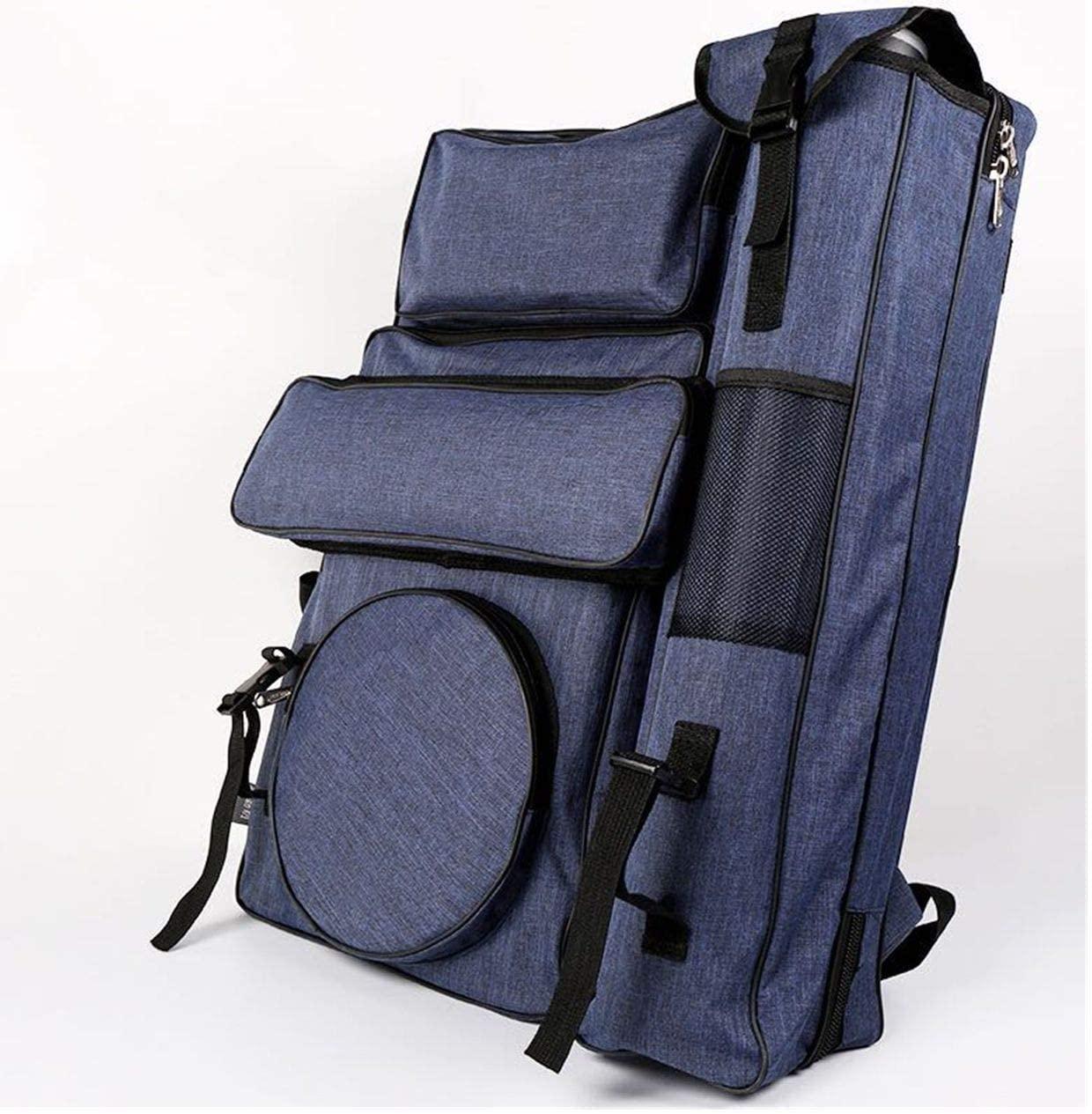 Zaneray Artist Portfolio 4K Canvas Painting Backpack Waterproof Art Storage Bag for Outdoor Class Blue