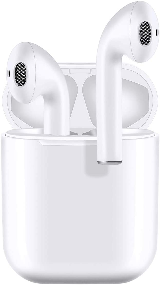 Bluetooth Earbuds 5.0 Bluetooth Headphone in Dual Mic Noise Canceling Wireless Earbuds,HiFi Stereo and 30hrs Playtime,Ture Wireless Headphones with IPX7 Waterpoof for Airpods/Samsung/iPhone//Huawei