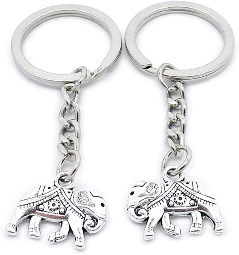 5 Pieces Keychain Keyring Door Car Key Chain Ring Tag Wholesale Supplier Clasps OM8T5C Thai Elephant
