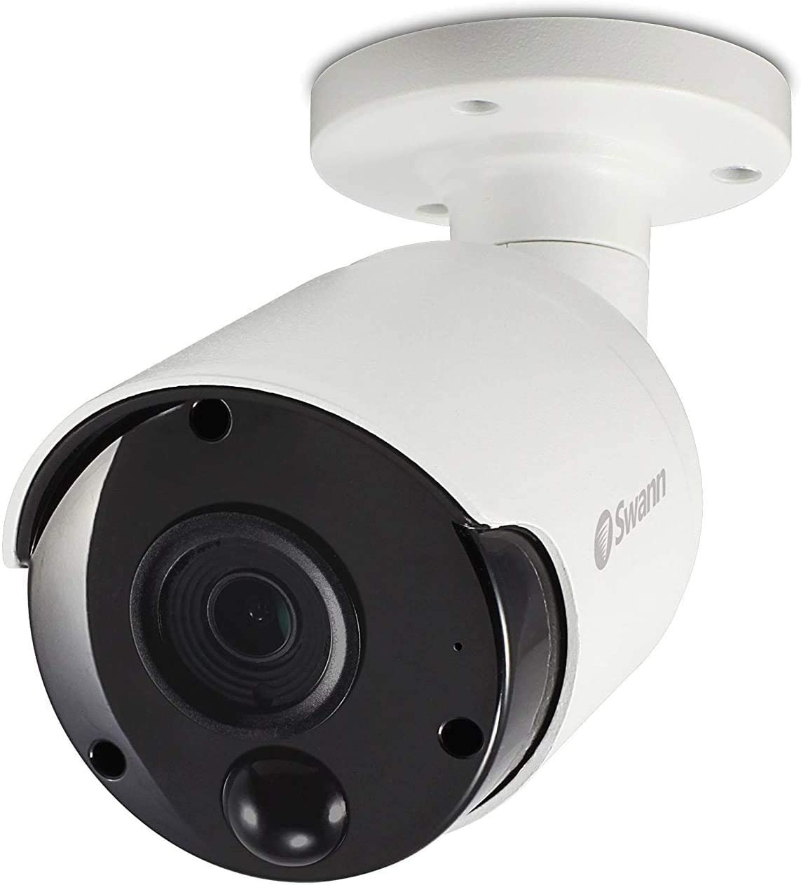Swann Wired PIR Bullet Security Camera, 5MP Super HD Surveillance Cam with Infrared Night Vision, Thermal, Heat & Motion Sensing, Audio Capture, Add to NVR with PoE, SWNHD-865MSB
